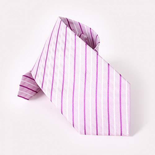 Punkt-kragen-gestreifte Krawatte (FDHFC Mens Polyester Krawatten Klassische Krawatte Punkte GedrucktHochzeit Kragen Krawatten Krawatte Für Erwachsene)