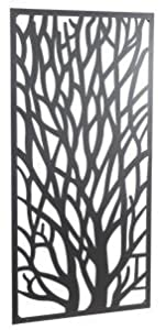 Wonderful Black coloured Steel Garden Metal Tree Screen 1.8m tall - ideal for a screen fence or wall mounting and climbing plants! from TOBS