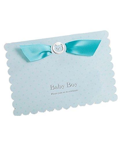 Einladungen Karten-Kits für Feiern Taufe Baby blau Baby Jungen Geburtstag Baby Dusche mit Umschlägen (30Stück)