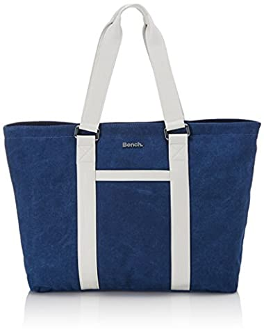 Bench Damen Shopper Doubleact, Deep Cobalt, 46.0 x 28.3 x 10.2 cm, 13.28 Liter, BLXA0848 (Handtasche Bench)