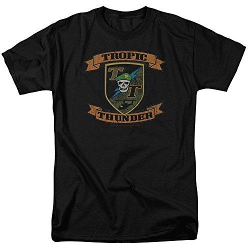Wicked Tees Herren TROPIC THUNDER Kurzarm PATCH XLarge T-Shirt Tee Größe XL
