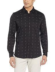 Parx Mens Casual Shirt (8907576139078_XMSS06048-K8_40_Black)