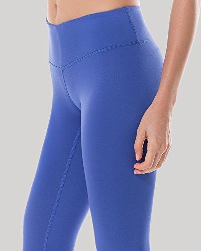 CRZ YOGA Femme Legging de Sprot Yoga Longueur 7/8 Poche de Clé Collant Running Bleu