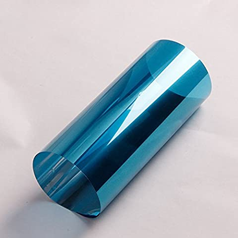 [Hoho] Bleu Argent film teinté pour vitre de fenêtre de pare-soleil film réfléchissant film solaire 152*30cm & # nitrure; 152,4x 30,5cm et Carbide PCB;