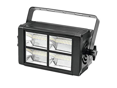 LED Stroboskop 230V / 20W, 48 x weiße LEDs, Musiksteuerung / DMX Steuerung - Disco Blitzer / Stroboskopeffekt - showking