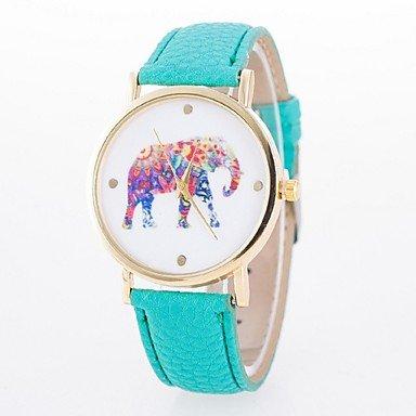 XKC-watches Relojes de Mujer, ms del Reloj de señora. Correa de Reloj de Cuarzo de línea Elefante Flor de Cuarzo (Color : Verde Claro, Género : para Mujer)