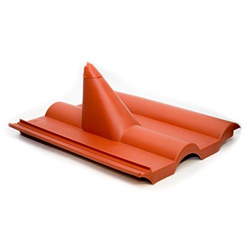 PremiumX Dachabdeckung Frankfurt Rot Dachpfanne Dach Abdeckung Dachziegel aus Kunststoff PVC