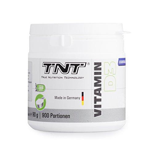 Premium Vitamin D3 Hochdosiert - 900 Portionen mit 1000 IU Cholecalciferol - Immunsystem stärken / 90g Pulver -
