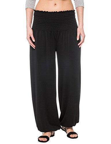 Berydale Pantalones Sarouel de Mujer, Talla única, Negro, OS
