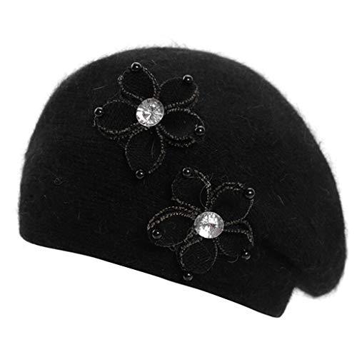 pfbedeckung Herbst Winter,Saingace Dame Baseknmütze Eleganz Kopfbedeckung Mütze ()
