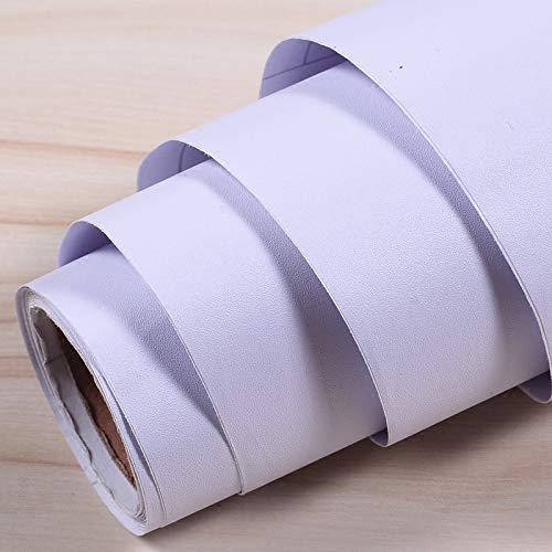 Ximeima Wohnzimmer Selbstklebende Tapete PVC wasserdichte Tapete Wandaufkleber Reine weiße sofortige Aufkleber-Möbel geüberholter Kabinett-Fach-Aufkleber 90cm Breite * 500cm Länge Weiß
