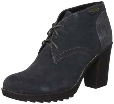 Pepe Jeans Women's Tottenham Dark Grey Ankle Boots PFS10725 4 UK