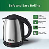 Electric Kettle 2 LTR Automatic Multipurpose Large Size Tea Coffee Maker Water Boiler with Handle (Silver.)