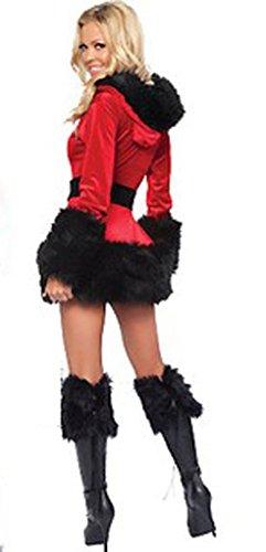 Eyekepper Robe Femme demoiselle mesdames sexy miss pere noel robe chic costume tenue Noir
