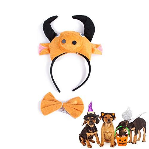 Morbuy Reizende Katzenkostüm Hunde Haustier Kleidung Stirnband Kostüme, Halloween Xmas HundeKostüm Hundebekleidung Kostüme Kleidung Katze lustiges Kleid Cosplay (Braune - Braune Katze Kostüm