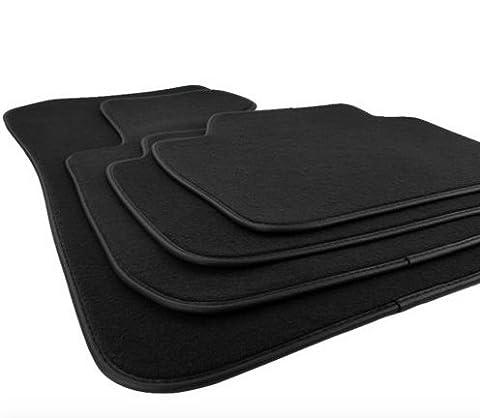 Kit 4 tapis de sol noirs premier prix
