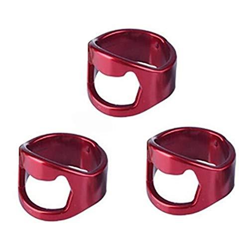 99native Profi Weinflaschenöffner? Edelstahl weinflaschenöffner Innendurchmesser: 20-22mm Fingerring-Design Einfach zu Tragen (Rot)