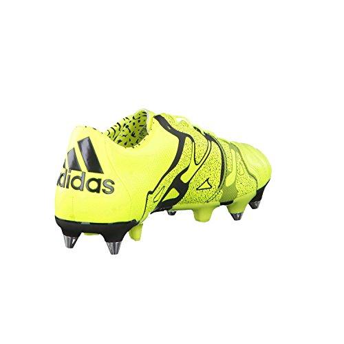 X 15.1 SG Cuir - Chaussures de Foot Jaune