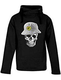 Top Fashion Quality Clothing Adult Stone Roses Lemon Skull Heavyweight Hooded Sweatshirt