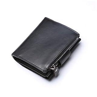 QIANHEDAMAI Pu-Leder Brieftasche Kreditkarteninhaber RFID Anti-Diebstahl-Pinsel Automatisches Kartenset Vintage Business Pinsel Vintage Karteninhaber Geldbeutel