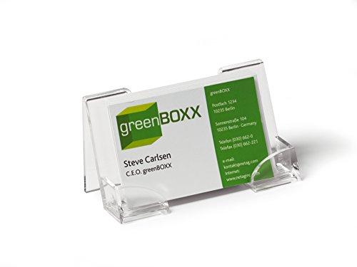 Durable-241419-Prsentoir-Porte-Cartes-Simple-pour-50-Cartes-de-Largeur-Maxi-100-mm-Acrylique-Transparent