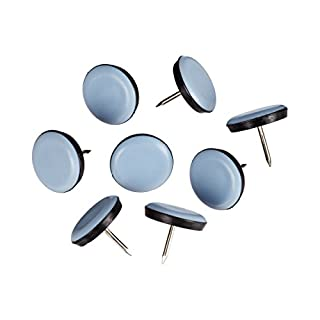 Unbekannt Schutz-Gleiter, 8 Stück mit Nagel, Möbelgleiter, Ø 2,5 x 0,6 cm, blau