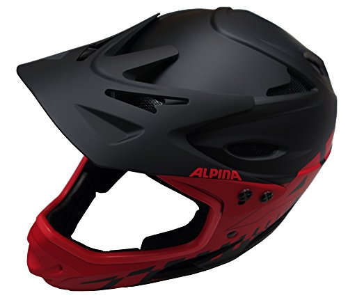 Alpina Radhelm Fullface, Rot (Black/Red), 55-56, 9689332