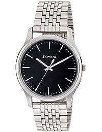 Sonata Essentials Analog Black Dial Men's Watch NM77082SM01 / NL77082SM01