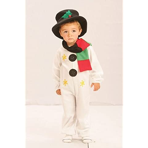 Disfraz para niños muñeco de nieve Navidades 2 - 3 Años