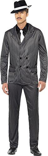 ster Kostüm, Nadelstreifen-Jacke und Hose, Hemdfront und Krawatte, Größe: L, 23687 (1920-kostüm-ideen)