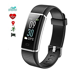 EFOSHM Fitness Tracker, Color Screen Smart watches Activity Tracker Heart Rate with Sleep Monitor Pedometer 14 sport modes Calorie Counter IP68 Waterproof Bracelet for Android iPhone iOS Phones