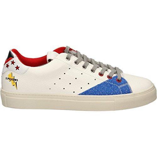 Mariano Di Vaio , Chaussures de sport d'extérieur pour homme blanc blanc/bleu 40 EU blanc/bleu