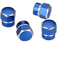 5 St/ück blau Kappen Vorbau Luftventilkappen Aluminium Reifenrad staubdicht josep.h Ventilkappen f/ür Reifenvorbau