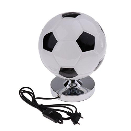MagiDeal Lampe de Table LED Forme de Football de Chevet Lumière Décoration Chambre Salle Bureau 220v EU Plug