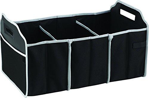 iTREND World Multi-function Collapsible Car Trunk Organizer with Cooler Kofferorganizer, 58 cm, Schwarz (Black Grey Lining)