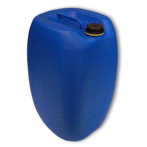 Bidon – Jerrican 60 L, Bleu HDPE ouverture DIN 61 qualité alimentaire, 1 poignée centrale (22250)