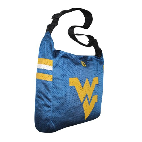 COLLECTIONNEUR ITEM: NCAA West Virginia Mountaineers Jersey Large Tote / Umhängetasche - Dunkel Blau