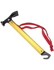 Martillo de Tienda Tirador de Tienda de Campaña Carpa de Campaña Tirador de Estaca Extractor Multifunción Herramienta para Camping ( Color : Amarillo )