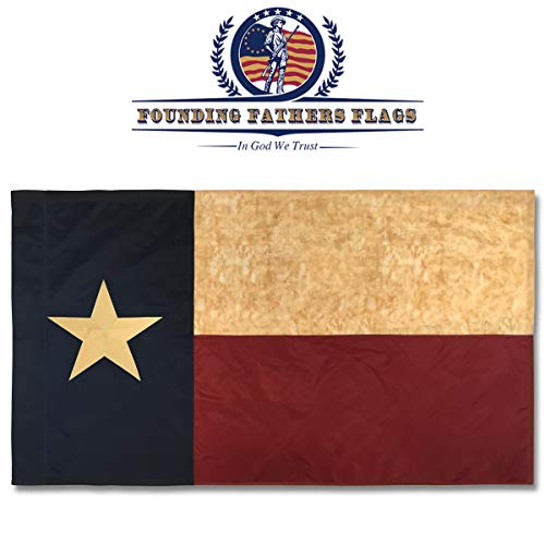 bestickt Texas Vintage Banner - 3 x 5 'Oxford Polyester Flagge W/Sleeve (Outdoor Decorative Flag Pole)