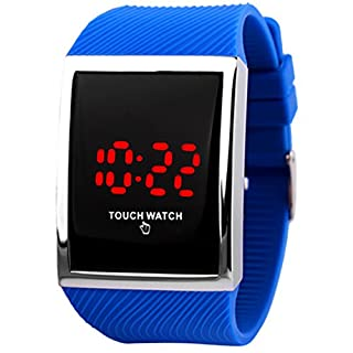 Touch Sport Kids Wrist Watches Digital LED Technology for Boys Girls Mens Womens Blue, for 10+ Years Old Children Teens