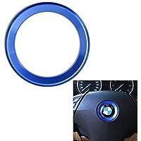 Duoles Funda de aluminio para el centro del volante para BMW Serie 1, 2, 3, 4, 5, 6, X4, 5 y X6 (F20, F21, F22, F23, F30, F31, F32, F33, F35, F36, ...