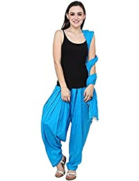 Yelook Women Full Cotton Patiala Salwar With Dupatta (Sky Blue)