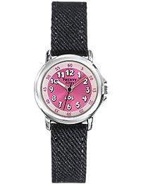 Trendy Kiddy - KL 307 - Montre Mixte - Quartz Analogique - Cadran Rose - Bracelet Tissu Noir