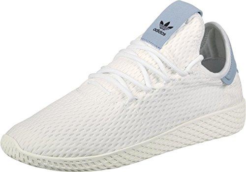 adidas-Pw-Tennis-Hu-Scarpe-da-Fitness-Uomo-BiancoAzzurro-FtwblaFtwblaAzutac-36-EU