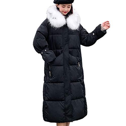 WRWYOSF Damen Mäntel Wintermantel Kapuzenjacke Baumwollkleidung Kleiner Pelzkragen Warme Baumwolljacke Dicker Mantel Winter Warmer Mit Dicke Weite Jacke Designer Winterjacke