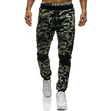 BOLF Hombre Pantalón Deportivo Jogger Militar Camuflaje Estilo Urbano 6F6