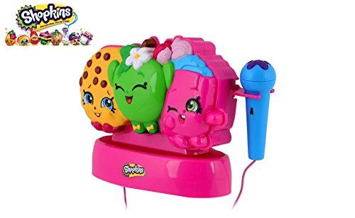 Kinder-Karaoke-Maschine Portable Speaker Kit für Kinder / Kinder Spielzeug mit Mikrofon und MP3-Player AUX Jack-Point für iPhone, iPod (Shopkins) (Ipod-basis)