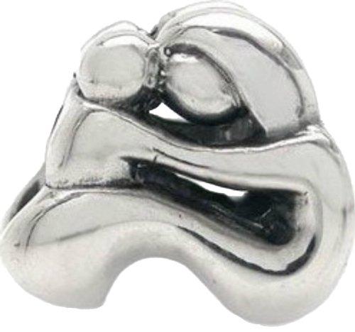 Mutter und Kind / Baby Massivstempel 925 Sterling Silber Charm. passt 3mm europäischen Armbänder Geschenkkarton