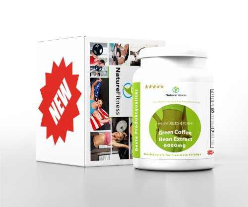 Green Coffee Bean 6000mg HOCHDOSIERT 90 Kapseln