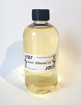 250ml Sweet Almond oil - Aromatherapy base carrier oil from simply Essential uk